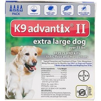 K9 Advantix II K9 Advantix® II Pet Insect Treatment for Dogs - 4 Count (XL)