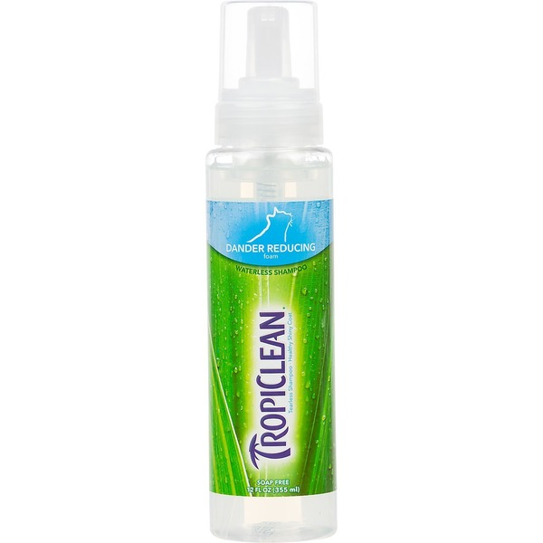 Tropiclean Dander Reducing Waterless Grooming Foam Cat Shampoo