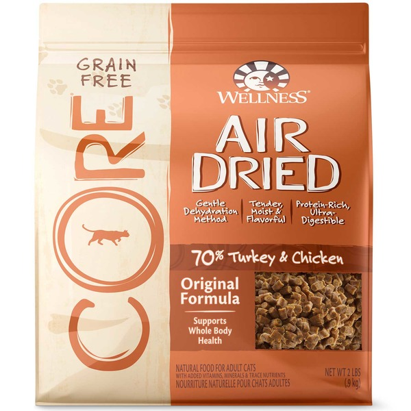 Wellness Core Air Dried Turkey & Chicken Grain Free Adult Cat Food 2 Lbs.