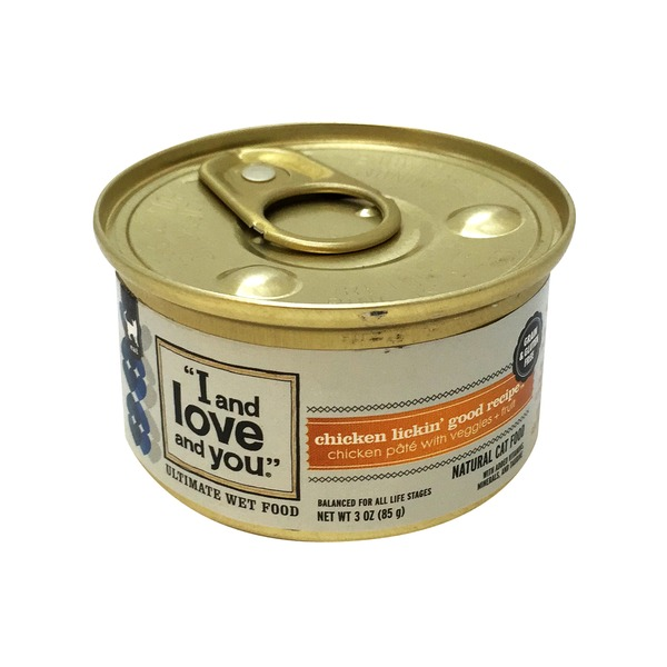 I and Love and You Chicken Lickin' Chicken Pate with Vegetables Cat Food