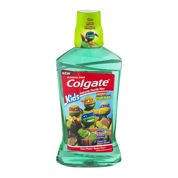 Colgate Kids Teenage Mutant Ninja Turtles Anticavity Fluoride Rinse Bubble Fruit