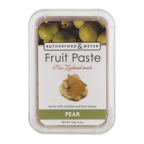 Rutherford & Meyer Fruit Paste New Zealand made Pear