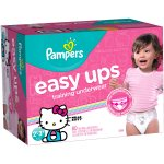 Pampers Easy Ups Girls Training Pants, Size 2T-3T, 80 Pants