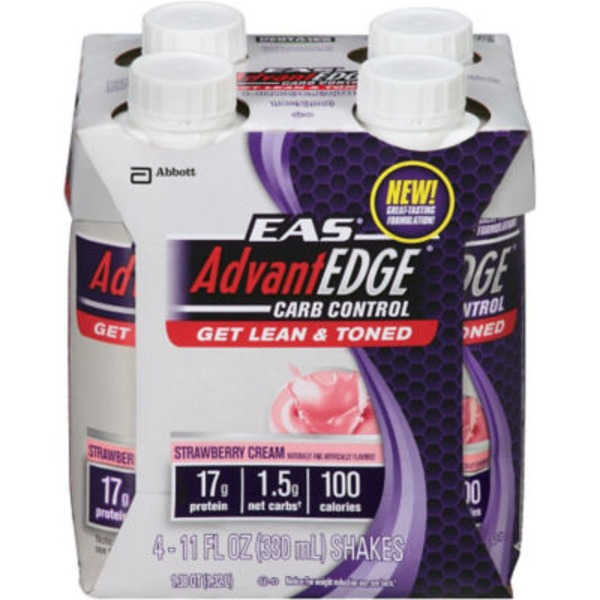 Eas Advantedge Pure Milk Strawberry Cream Protein Shake