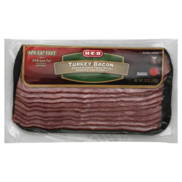 H-E-B Natural Hardwood Smoked Uncured Turkey Bacon