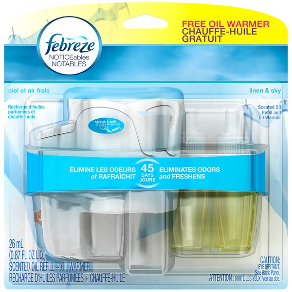 Febreze NOTICEables Linen & Sky Scented Oil Refill & Oil Warmer