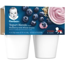 Gerber® Yogurt Blends Snack Blueberry with Whole Grain Yogurt 4-3.5 oz. Cups
