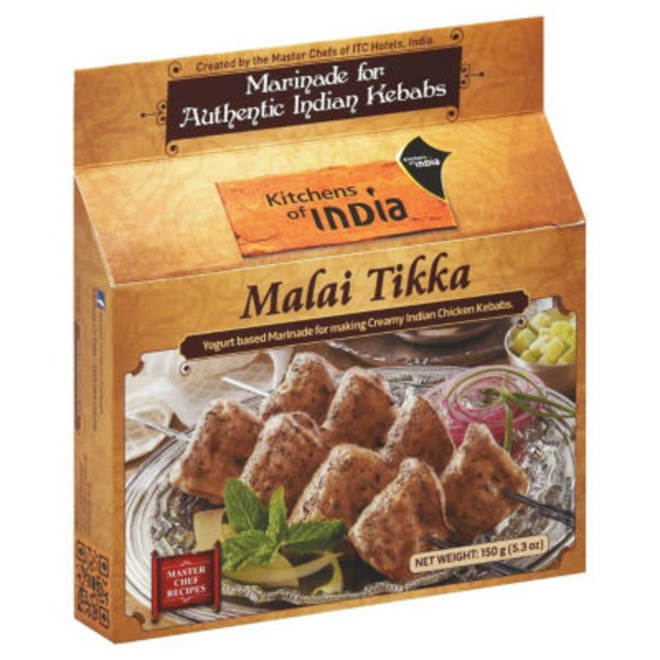 Kitchen of India Malai Tikka Ginger/Garlic Based Marinade