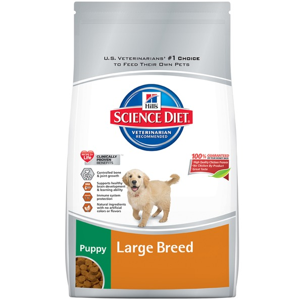 Hill's Science Diet Dog Food, Dry, Puppy (Up To 1 Year), Large Breed