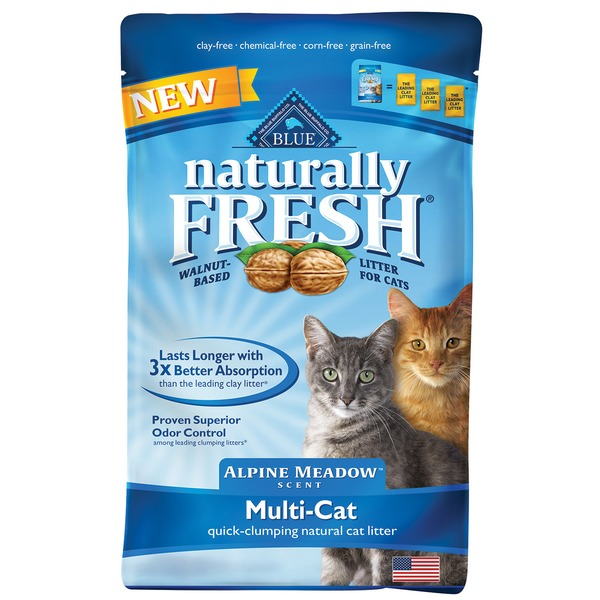 Blue Buffalo Cat Litter, Natural, Quick-Clumping, Multi-Cat, Alpine Meadow Scent