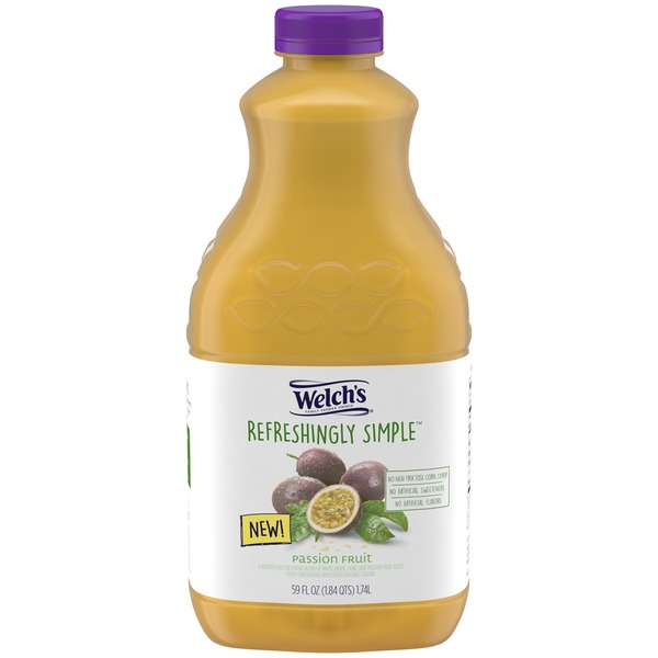 Welch's Refreshingly Simple Passion Fruit Flavored Juice Beverage Blend