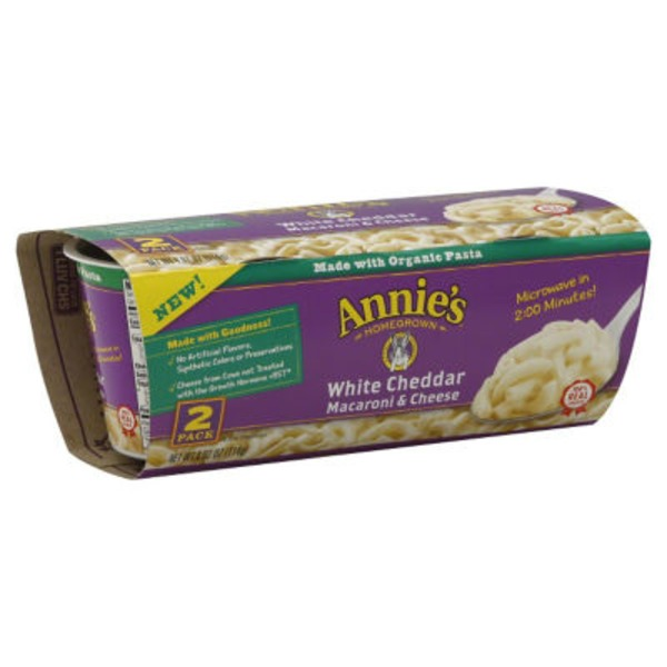 Annie's Homegrown White Cheddar Macaroni & Cheese Micro Cup Mac & Cheese