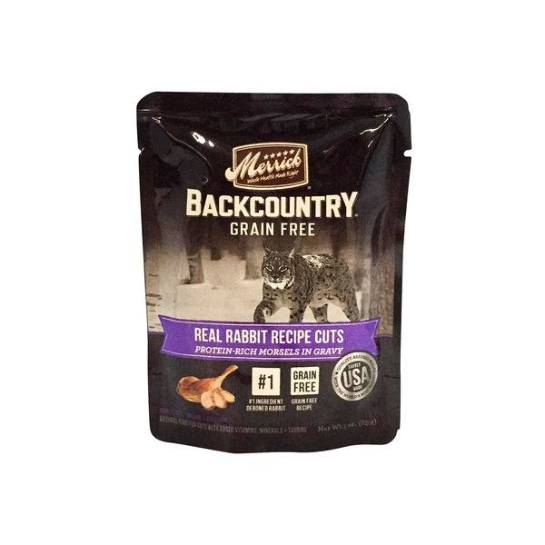 Merrick Backcountry Grain Free Real Rabbit Recipe Cuts Cat Food