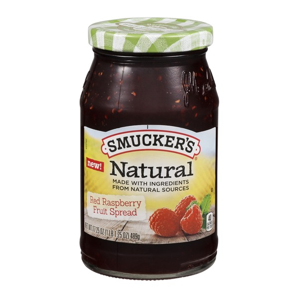 Smucker's Natural Fruit Spread Red Raspberry
