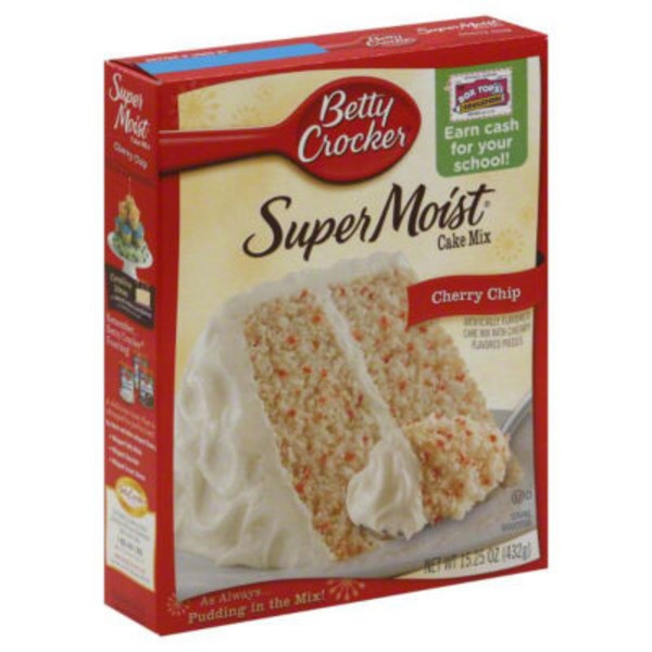 Betty Crocker Delights Super Moist Cherry Chip Cake Mix