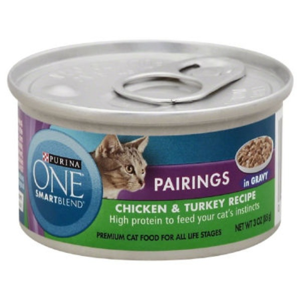 Purina One Cat Wet SmartBlend Pairings Chicken & Turkey Recipe in Gravy Cat Food