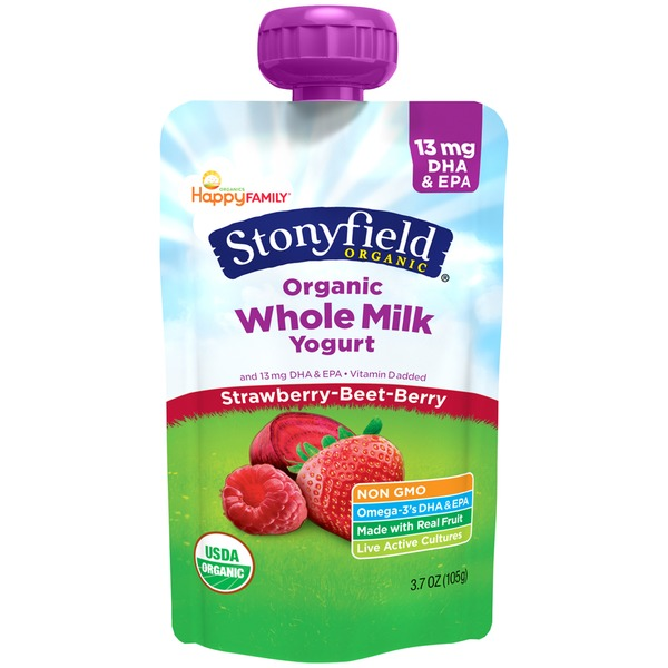 Stonyfield Organic Whole Milk Strawberry-Beet-Berry Organic Yogurt