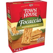 Keebler Town House Focaccia Rosemary & Olive Oil Oven Baked Crackers, 9 oz