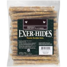Salix Exer-hides Chicken Flavored Munchy Rawhide Sticks, 50 count