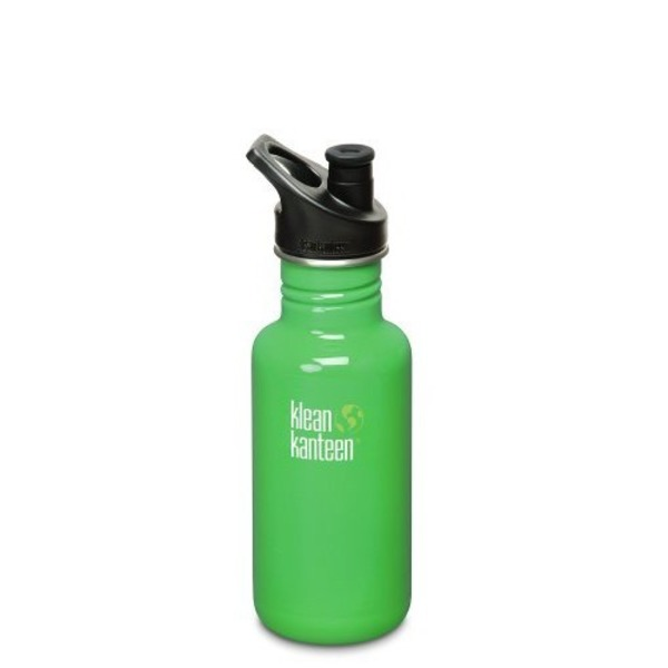 Klean Kanteen Green Color Classic 27-Ounce Stainless Steel Water Bottle With Sport Cap