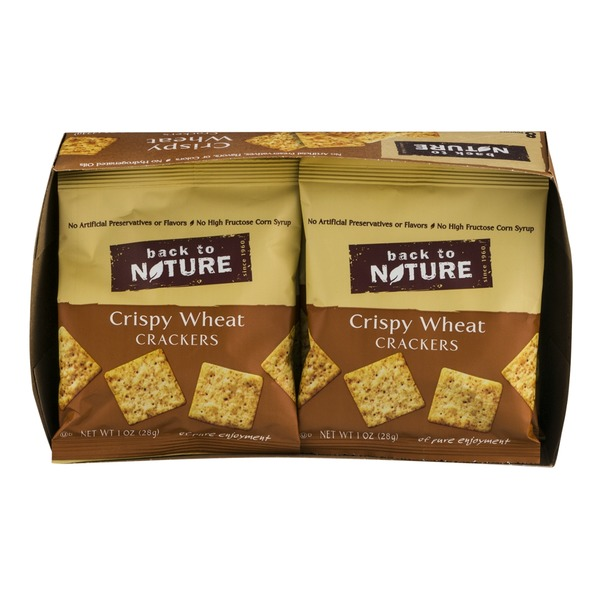 Back to Nature Crispy Wheat Crackers Pouches - 8 PK