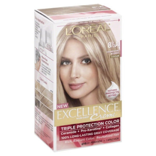 Excellence Creme Triple Protection Champagne Blonde Cooler 8-1/2A Hair Color