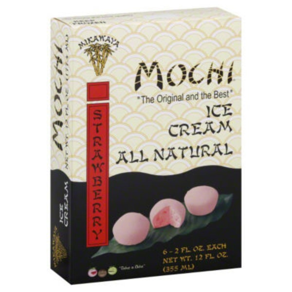 Mikawaya Mochi Ice Cream Strawberry - 6 CT