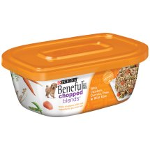 Purina Beneful Chopped Blends With Chicken, Carrots, Peas & Wild Rice Dog Food 10 oz. Plastic Tub