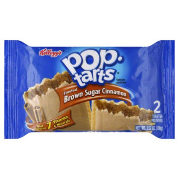 Pop-Tarts Kellogg's Pop-Tarts Toaster Pastries Frosted Brown Sugar Cinnamon - 2 CT