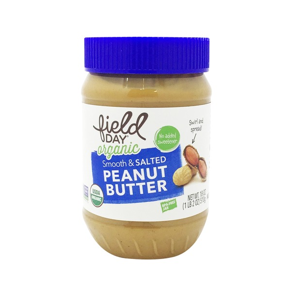 Field Day Organic Salted Smooth Peanut Butter