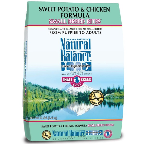 Natural Balance Dog Food, Dry, L.I.D., Sweet Potato & Chicken Formula, Small Breed Bites, Bag