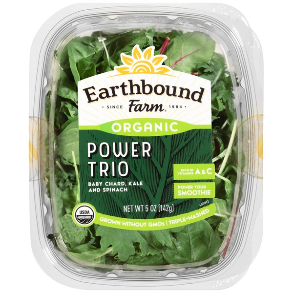 Earthbound Farm Organic Power Trio Baby Chard, Kale and Spinach