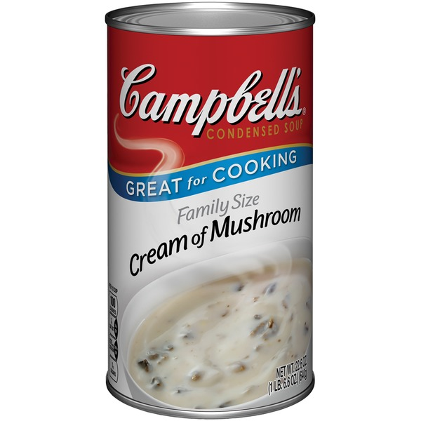Campbell's Cream of Mushroom Family Size R&W Condensed Soup