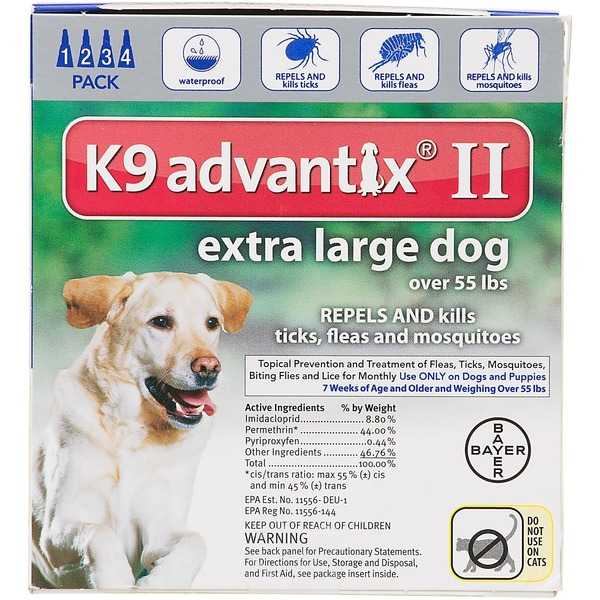 K9 Advantix II Pet Insect Treatment for Extra Large Dogs