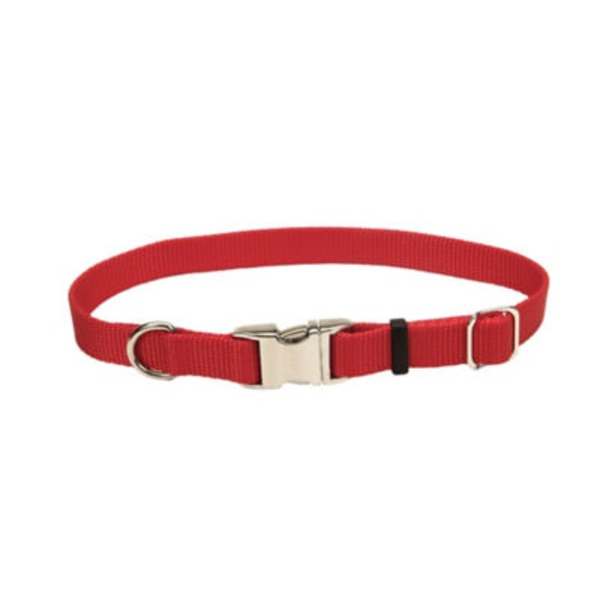 Coastal Pet Titan Red 1 Inch Metal Buckle Adjustable Nylon Collar