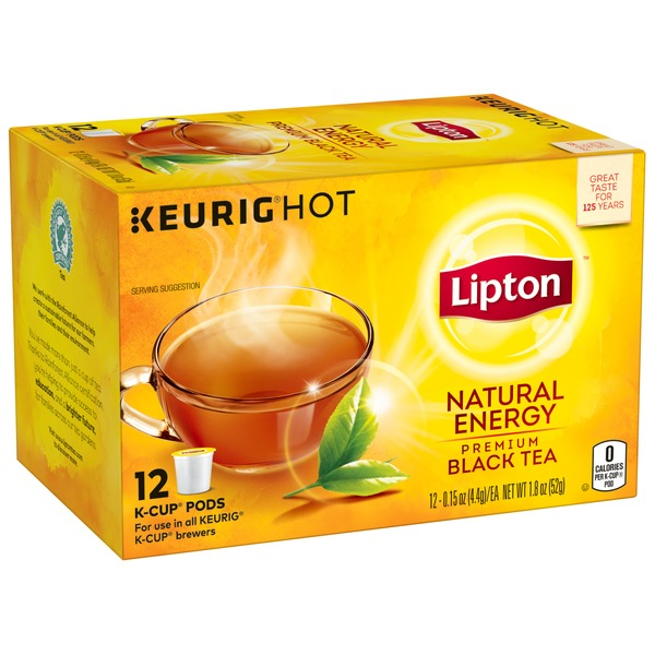 Lipton Natural Energy Premium Black Tea K Cups