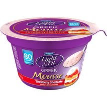 Dannon Light & Fit Greek Mousse Strawberry Shortcake Nonfat Yogurt