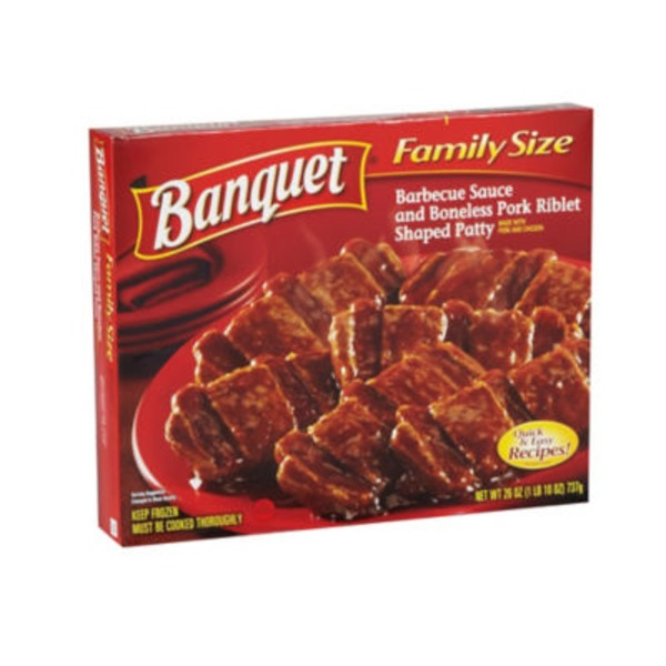 Banquet Barbecue Sauce & Boneless Prok Riblet Shaped Patty Family Size
