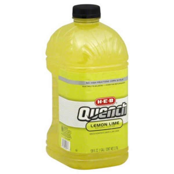 H-E-B Quench Electrolyte Balanced Lemon Lime Hydration Replenishment