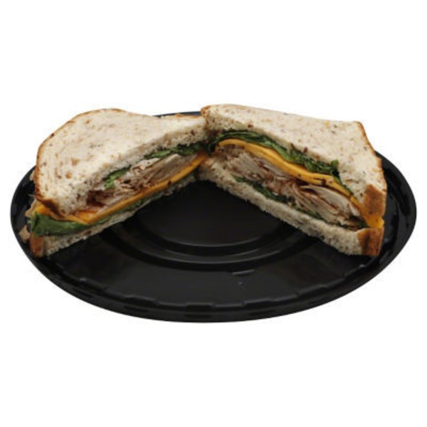 H-E-B Chef Prepared Foods Turkey With Sundried Tomato and Medium Cheddar Cheese Sandwich