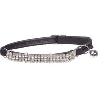 Petco Nylon Adjustable Fancy Super Bling Stretch Cat Collar In Black