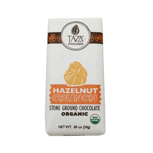 Taza Hazelnut Crunch Stone Ground Dark Chocolate Organic