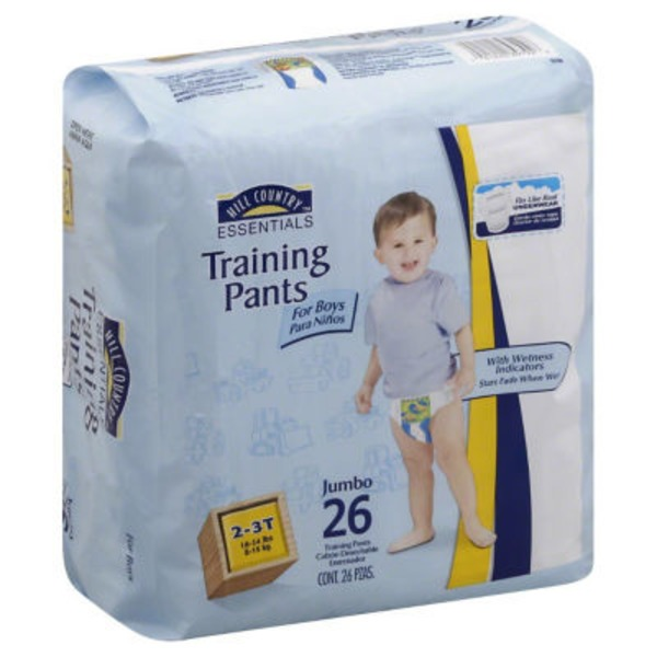 Hill Country Essentials Training Pants For Boys Jumbo Pack Size 2 3 T