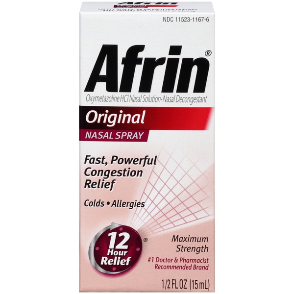 Afrin Maximum Strength Original Nasal Spray Nasal Decongestant