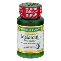 Nature's Bounty Melatonin 3 MG Quick Dissolve - 120 CT