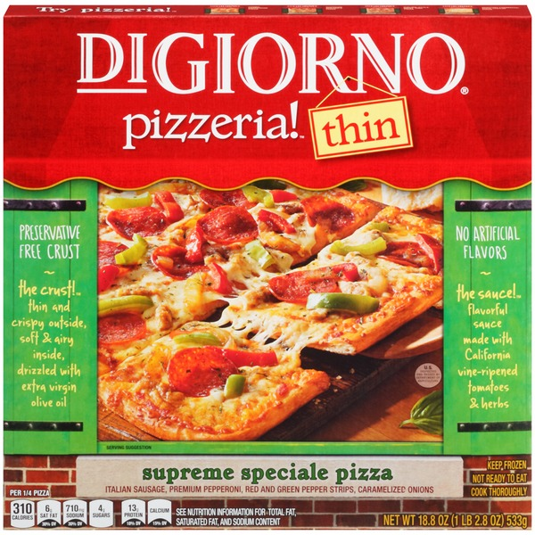 DiGiorno Pizzeria! Thin Supreme Speciale Pizza