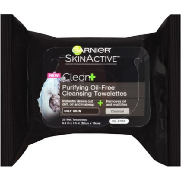 Skin Active Clean+ for Oily Skin Purifying Remover Cleansing Towelettes