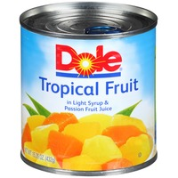 Dole Canned Fruit In Light Syrup & Passion Fruit Juice Tropical Fruit
