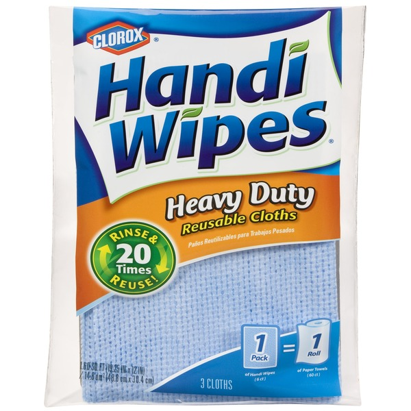 Handi-Wipes Reusable Cloths Heavy Duty - 3 CT