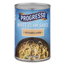 Progresso White Clam Sauce With Garlic & Herb, 15 oz Cans, 15.0 OZ